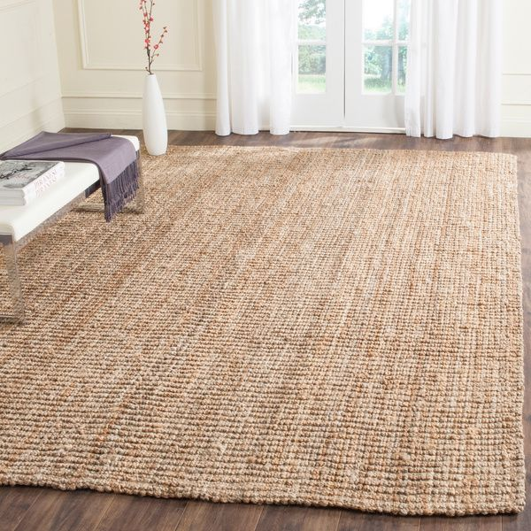 Safavieh Casual Natural Fiber Hand Woven Natural Accents Chunky Thick Jute  Rug (8u0027