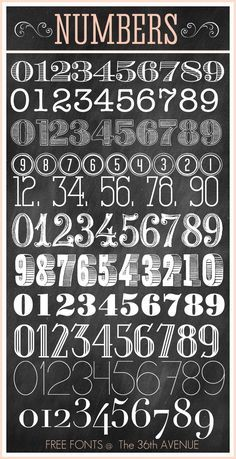 Free Fonts and Printable Combinations