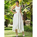 Lanting Bride® A-Linie Extraklein / Übergrößen Hochzeitskleid - Hochzeitsempfang Einfach hinreißend  Asymmetrisch V-Ausschnitt Chiffon mit 2017 - €97.99