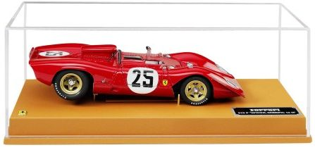 Ferrari 312P Spyder Sebring  -  1:8 scale. =========================  This 1:18 scale model is a perfect reproduction of the 1969 Ferrari 312P Spyder Sebring #25 car. An absolute must-have for all collectors given the accuracy of all the stylish details.  This model is presented on a leather base with an identification plate protected by a Plexiglas stand. It comes with a special gift box. $1,150.00