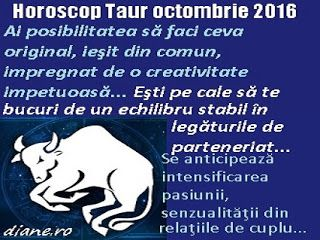 Taur octombrie 2016