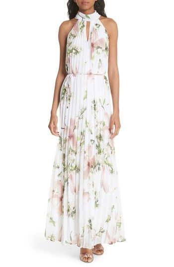 6ad129fed9e8 Free shipping and returns on Ted Baker London Harmony Pleat Maxi Dress at  Nordstrom.com. Perfect for summer soirees