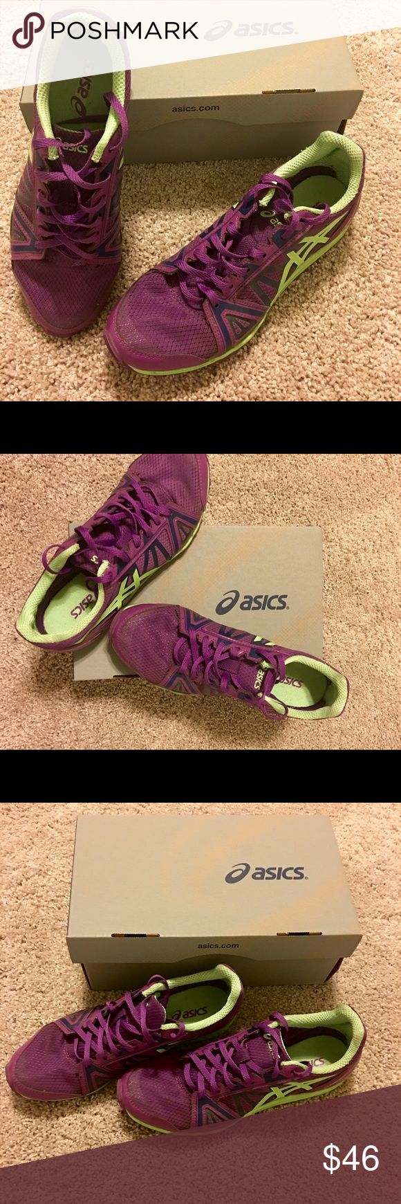 NEW ASICS Hyper-Rocketgirl XC Spike Shoe NEW ASICS Hyper-Rocketgirl XC spikes Cross Country/Track Spike Shoes. G559Y. Size USA 7. Color Grape. New. Very pretty and Comfortable. Asics Shoes Athletic Shoes