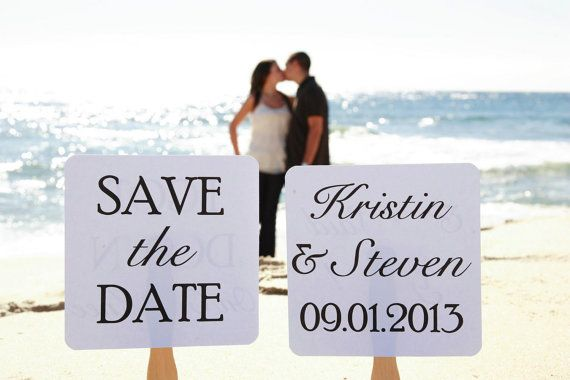Set of Save the Date Engagement Picture Signs - Stolen Heart on Etsy, $10.99