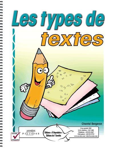 Ce document aidera vos élèves dans leur apprentissage de la langue écrite. Vous y trouverez différents modèles de types de textes. Pour chaque modèle, la structure et les diverses parties du texte sont présentées. De plus, chaque modèle est suivi d'un ou de plusieurs exercices. À la fi n du document, vous trouverez des suggestions de situations d'écriture selon chaque type de texte. Ce document est conforme à la nouvelle orthographe.