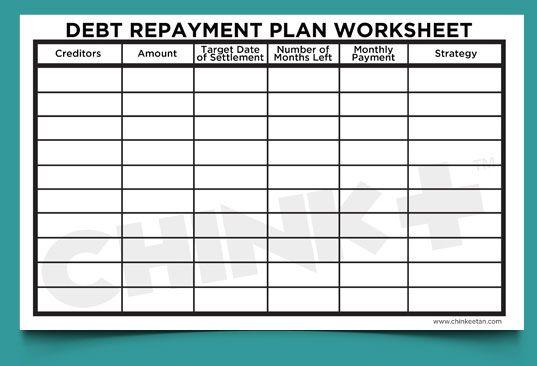 debt-repayment-planw-worksheet : Stuff to Buy : Pinterest