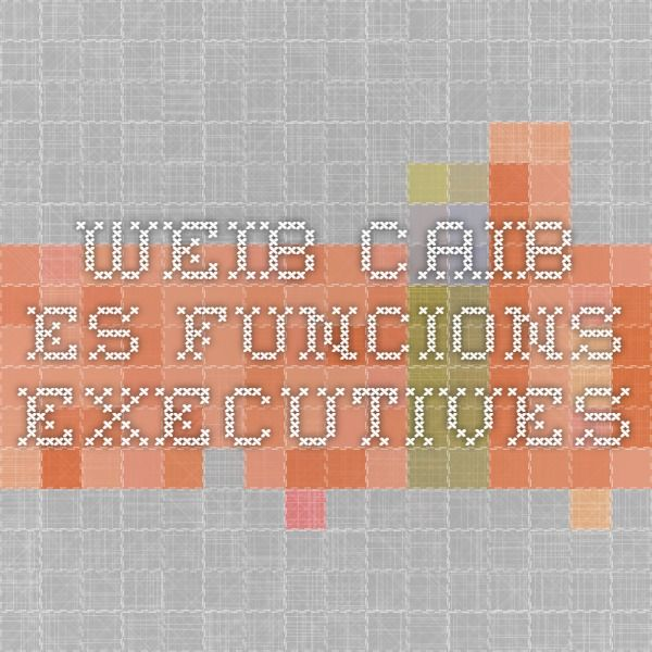 weib.caib.es funcions executives