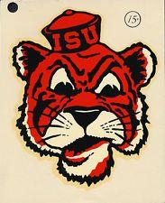Idaho State University **RARE** ORIG 1960's Decal vtg NCAA Bengals ISU mascot