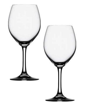 SPIEGELAU - 402 01 81 Festival Red Wine Glass, Set of 2 by SPIEGELAU. $16.99. Unique platinum finishing process increases durability and adds a brilliant shine. Lead-free crystal produced in Germany. Generous size bowls and enhance aromatics and provide a stunning visual presence. 14 1/2 -ounce capacity. Thin, laser-cut and polished rims maximize drinking pleasure. These Festival Red Wine glasses by Spiegelau are durable, highly functional and uncomplicated st...