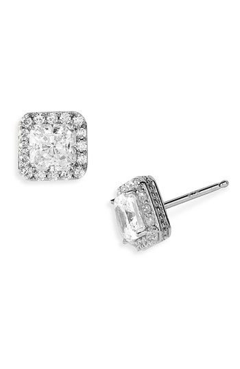 Nordstrom Pavé Square Stud Earrings available at #Nordstrom