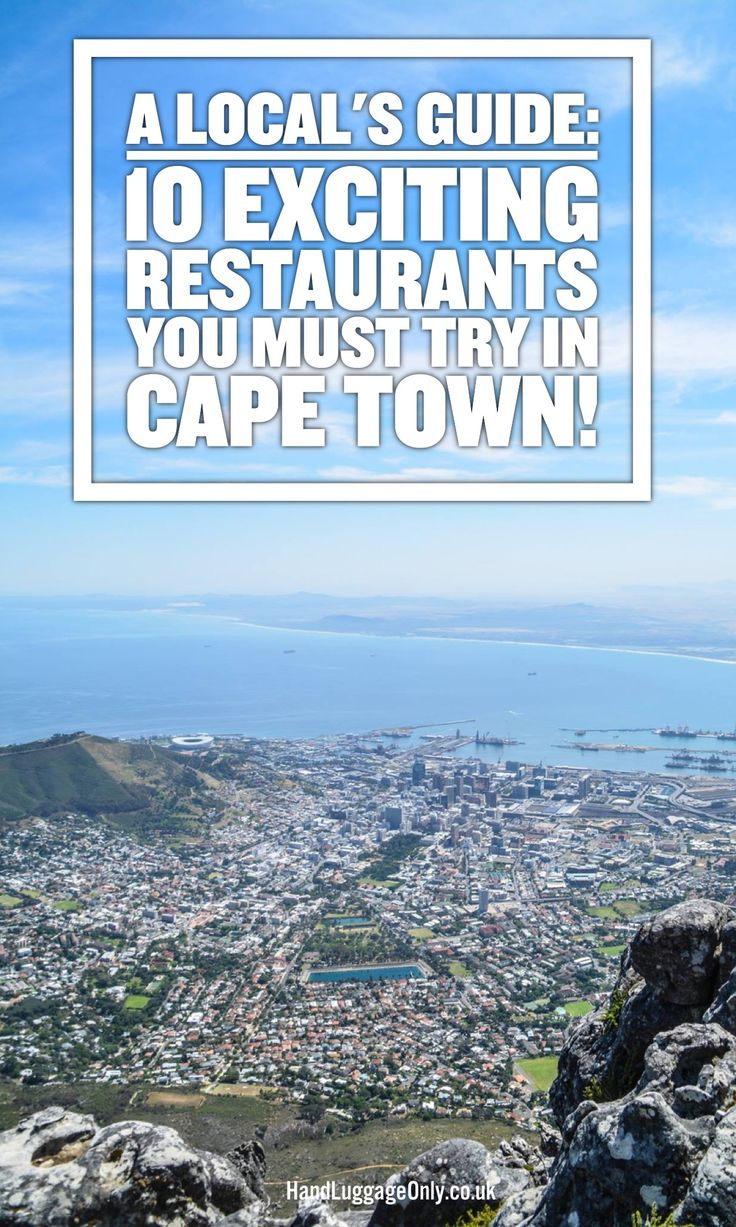 The Local's Guide: 10 Exciting Restaurants To Try In Cape Town, South Africa (1)