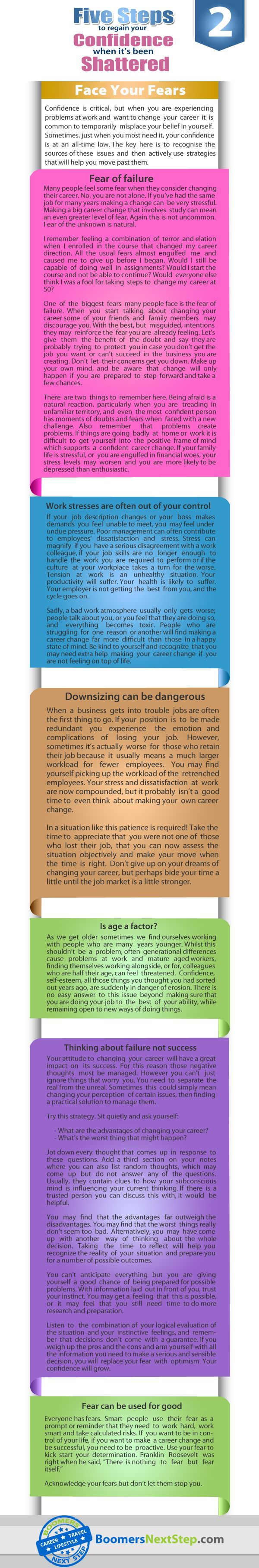 17 best images about career change infographics facts on confidence is critical but when you are experiencing problems at work and want to change your career it is common to temporarily misplace your belief in