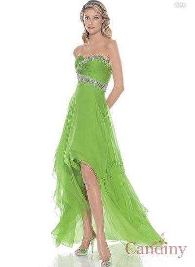 Vestidos verde limon largos