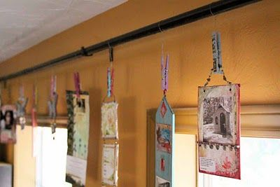 Decorated Clothespins make a gallery