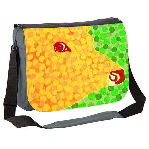 The Orange Cow Messenger Bag by hoganfinland at zippi.co.uk