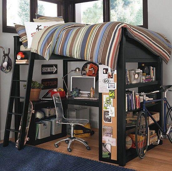Кровать чердак для подростка - дизайнерские решения (фото)