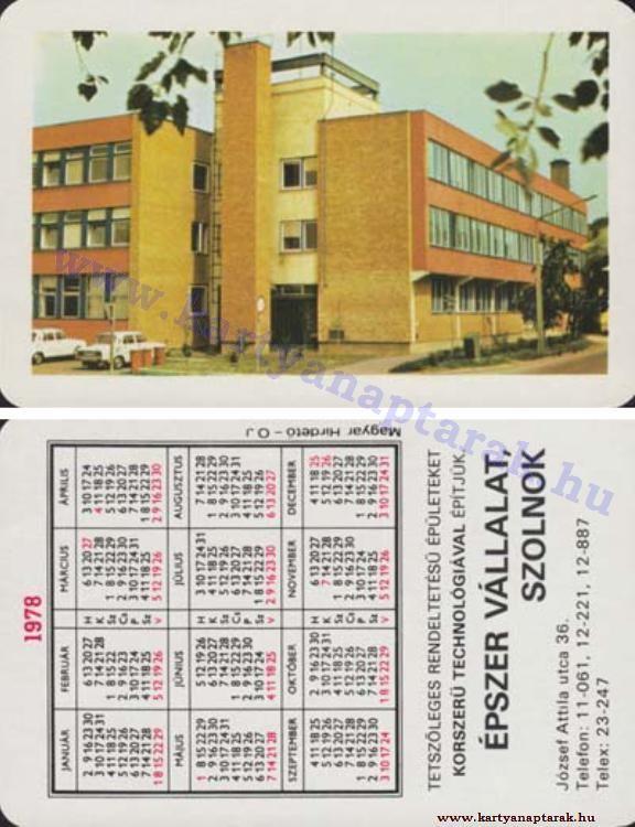 1978 - 1978_0924 - Régi magyar kártyanaptárak