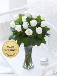 Elegant White Rose Vase