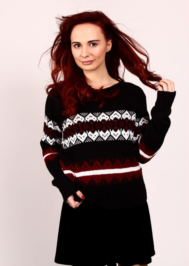 THIS FAIRISLE KNIT JUMPER PERFECT FOR solving crime!     Style of a Sarah Lund Jumper this Fair Isle Jumper style is back on trend with the return of the awesome Scandinavian TV drama The Bridge.  Wear this oversized jumper with jeans and ankle boots for a perfect warm winter outfit.