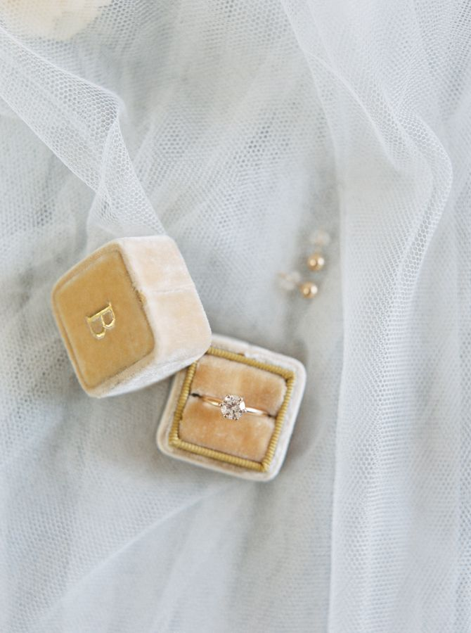 Round-cut diamond ring: http://www.stylemepretty.com/2016/10/26/outdoor-ontario-wedding/ Photography: Kayla Yestal - http://kaylayestal.com/