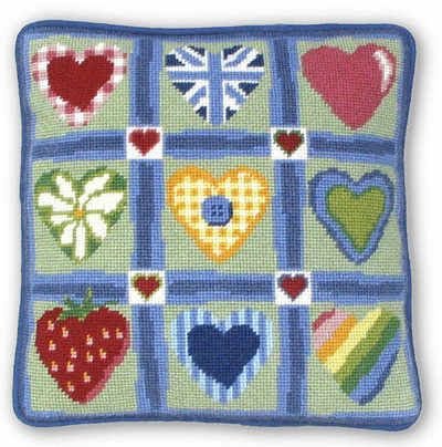Patch Hearts Tapestry Kit