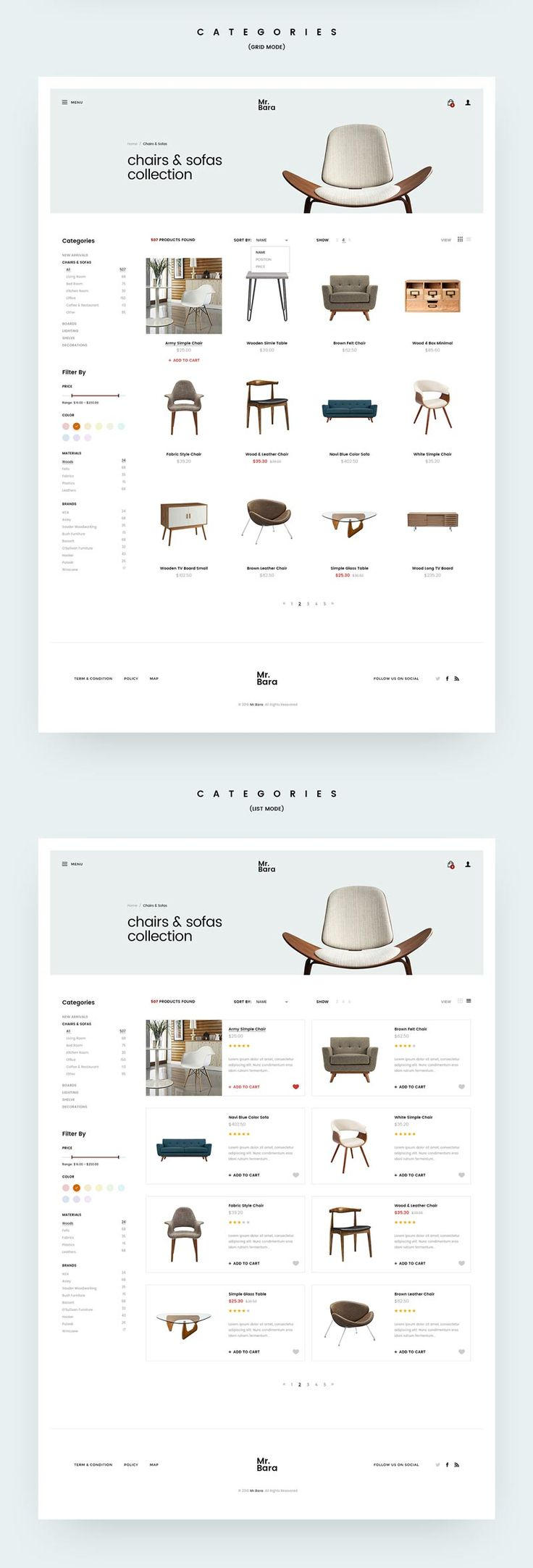 Mr-Bara Creative Wordpress Template - #ui #ux #userexperience #website #webdesign #design #minimal #minimalism #art