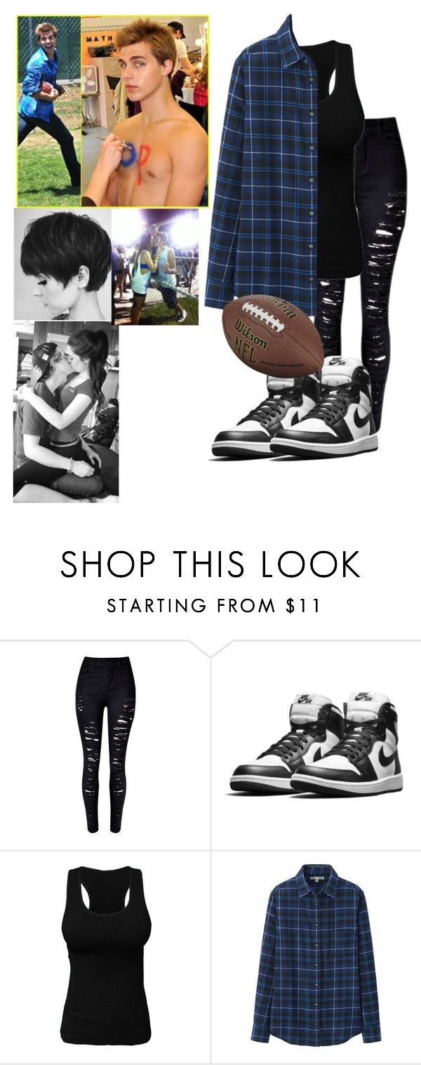 """""""Me playing football with Cody"""" by j-j-fandoms ❤ liked on Polyvore featuring LINLEY and Uniqlo"""