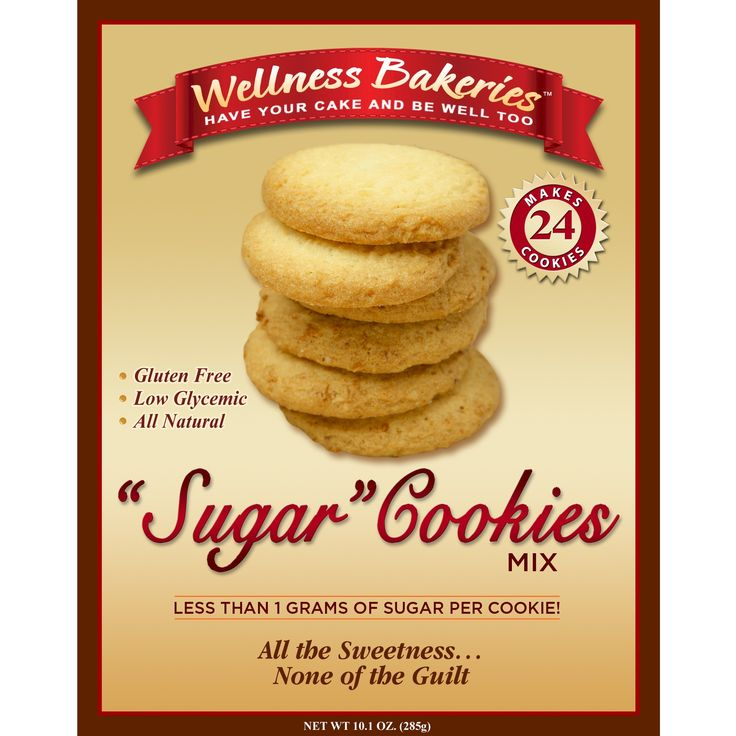 """Whip up an assortment of cookie creations using our basic gluten free """"sugar"""" cookie mix. Our sweet-and-buttery blend contains less than one gram of sugar per serving!"""