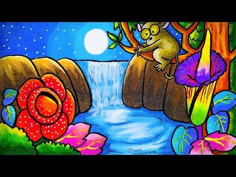 Cara Menggambar Dan Mewarnai Tema Flora Dan Fauna Langka Dan Alam Benda Yang Bagus Mudah Ep 212 You Gambar Flora Dan Fauna Cara Menggambar Seni Kontemporer