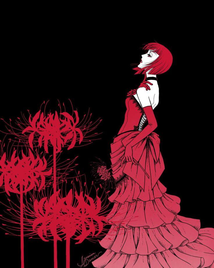 Madam Red with spider lilies! This is amazing <3 | Kuroshitsuji