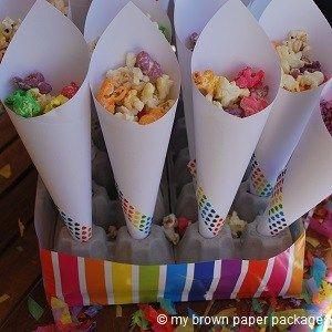 easy popcorn cone stand