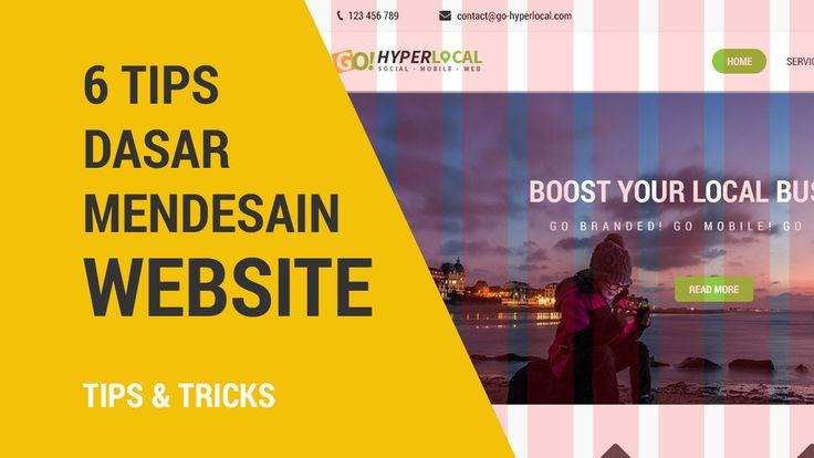 6 Tips Dasar Mendesain Website #situs #web #ui #ux #design #desain #desainweb #desainui #uidesign #tutorial #belajardesainer