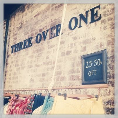 New season just around the corner and we need to clear the way!!  Discounts now up to 50% off. Come see us  in-store or visit us online www.threeoverone.com
