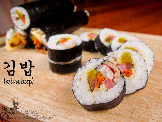 GREAT Website: Korean kimbap with all kinds of stuffing options