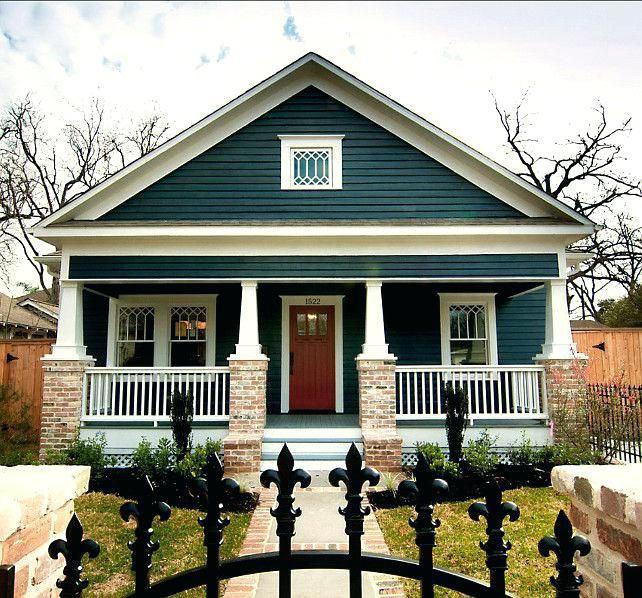 Craftsman Home Exteriors: Craftsman Bungalow Exterior Colors Homes With Major Curb
