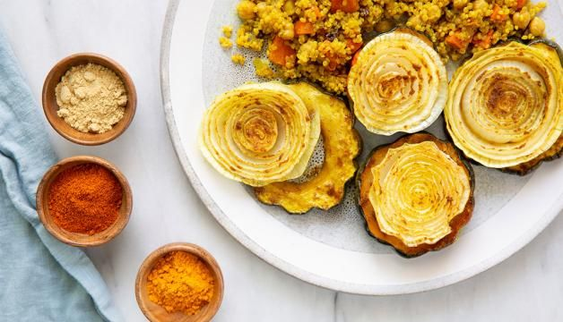 Moroccan Inspired Roasted Acorn Squash Natural Grocers Squash
