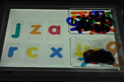 Play At Home Mom LLC: DIY Light Panel Letter Cards