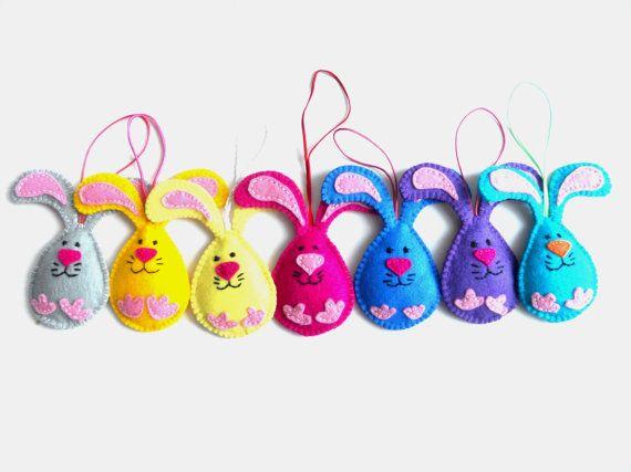 Felt Easter decorations Easter ornaments Easter Bunny decorations Easter home ornaments Spring hanging ornament.