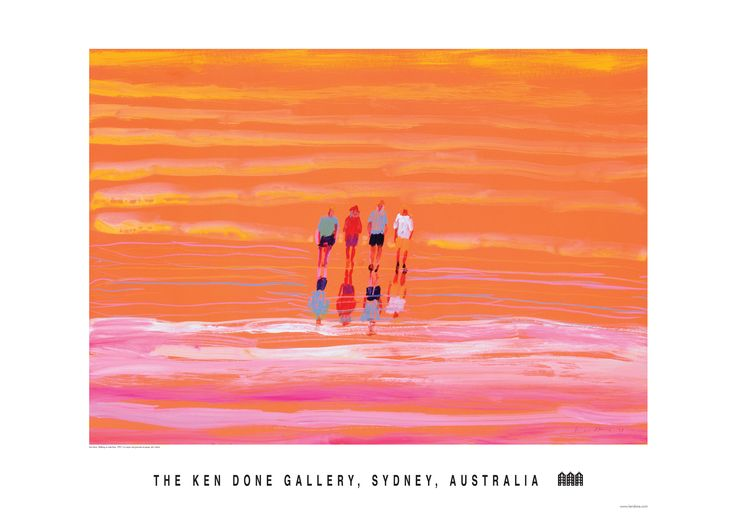 Ken Done - shop / posters / walking on-lake-eyre