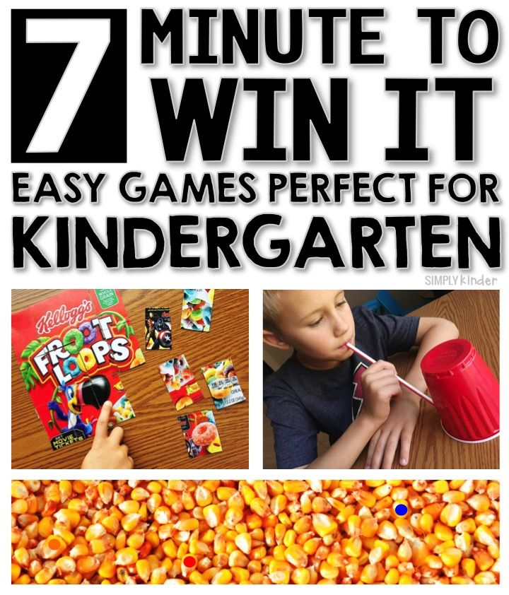 7 Easy Minute To Win It Games for Kinder