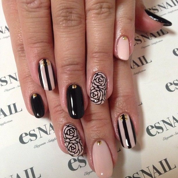 Love the roses. Please give me roses!!  Instagram photo by esnail_la #nail #nails #nailart