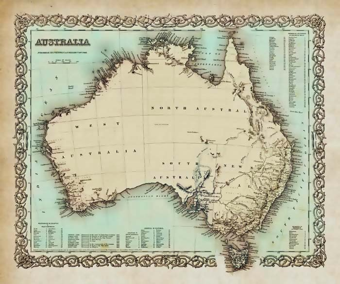 maps northern territory linkedin guides vintage australia map