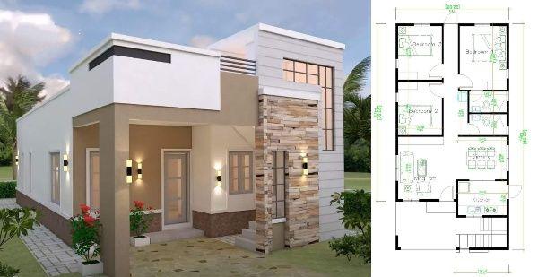 Elegant Spectacular Modern House Design Concept In 2020 Modern Bungalow House House Design Residential House