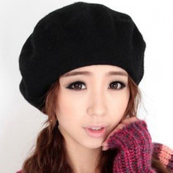 $5.57 Chic Style Solid Color Design Beret For Women