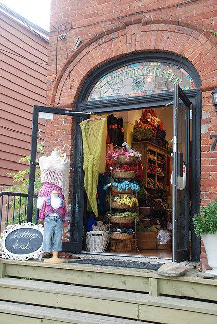Lettuce Knit yarn shop in Toronto, Canada ....by librarysarie  Sarah