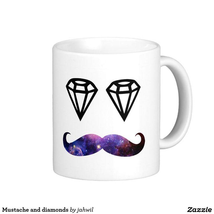 #mug #mustacheanddiamonds #mustache #diamonds Mustache and diamonds  mug