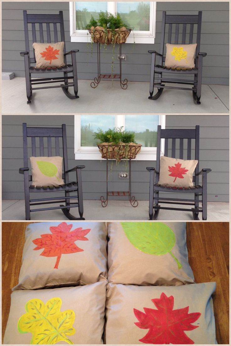 Fall Outdoor Pillows......... Cover Pillows With Fabric; I Used Regular  Sized Pillow Cases Which You Can Find In A Variety Of Colors(2 For $5.97 At  Walmart) ...