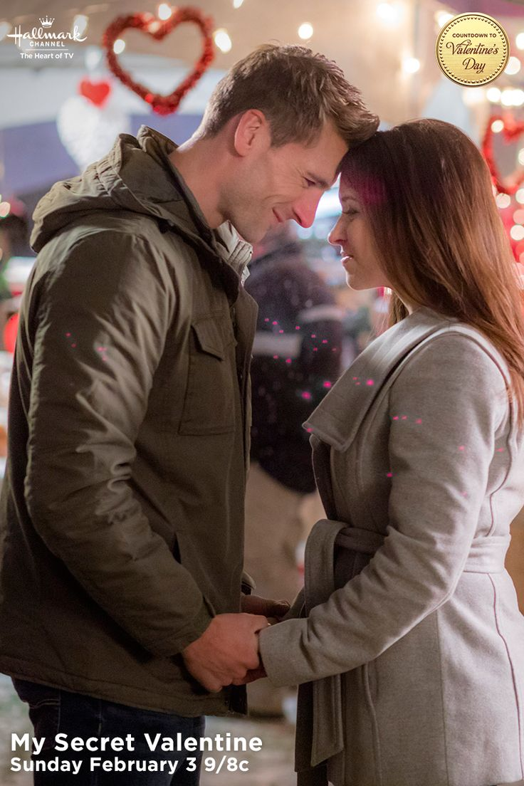 "Lacey Chabert and Andrew Walker share a loving moment in the middle of a wine festival. ""My Secret Valentine"" premieres February 3 at 9/8c!  #MySecretValentine  #CountdownToValentinesDay #HallmarkChannel"
