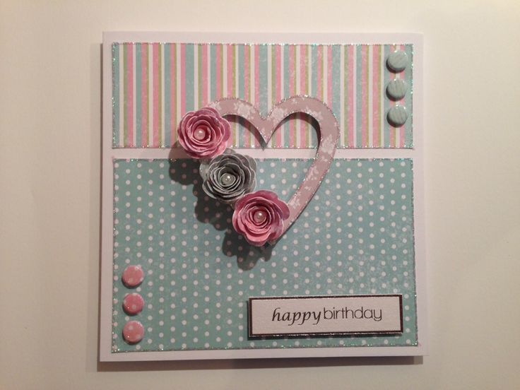 Card by Jo street using Craftwork Cards Sherbet papers and die cut flowers.