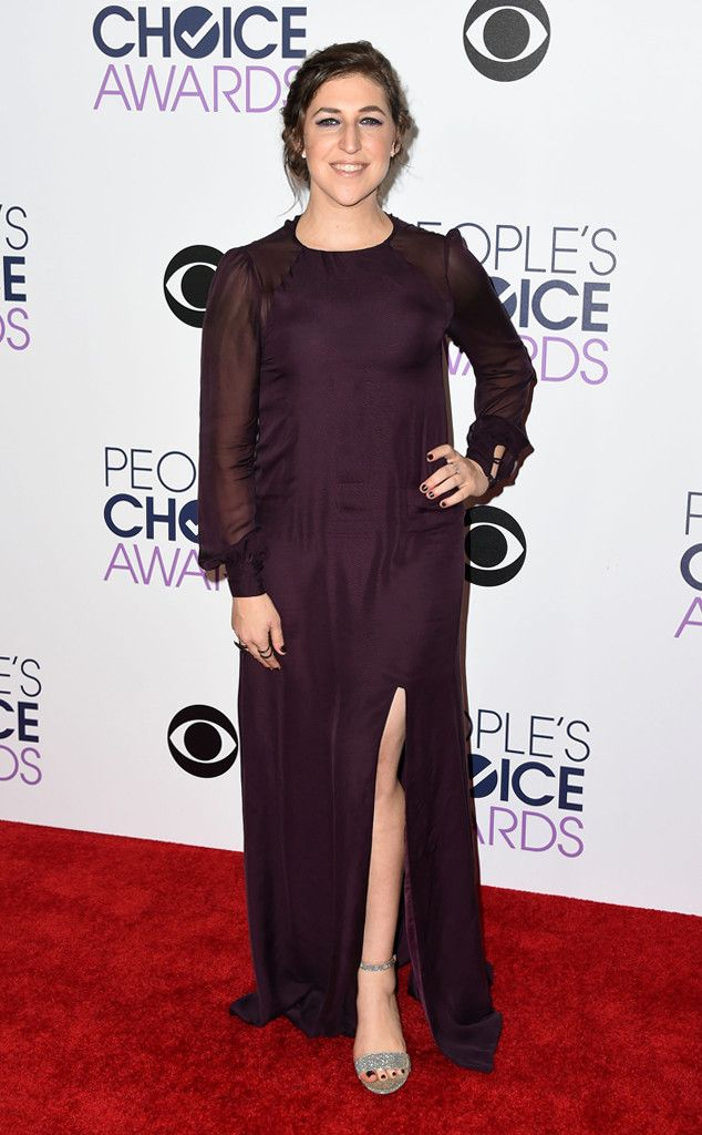Mayim Bialik from 2016 People's Choice Awards Red Carpet Arrivals  AnotherBig Bang Theory actress stole the show in her dramatic gown.